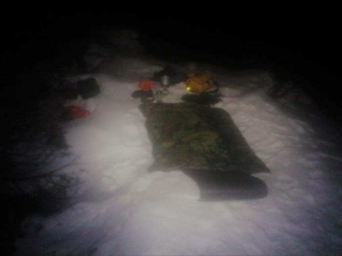 Natt i naturen leirplass