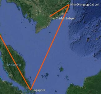 Reiserute Vietnam 1